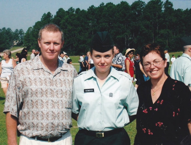 Graduation from Basic training 2003